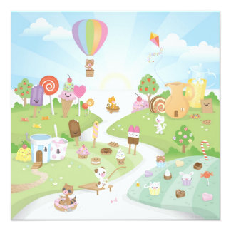 Sweet summer paradise! 13 cm x 13 cm square invitation card