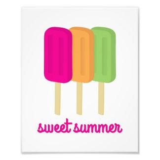 Sweet Summer Popsicle Art Photo Print