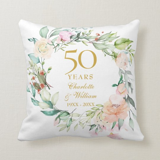 50th Anniversary Photo Cushion