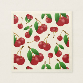 sweet summertime cherries disposable napkin