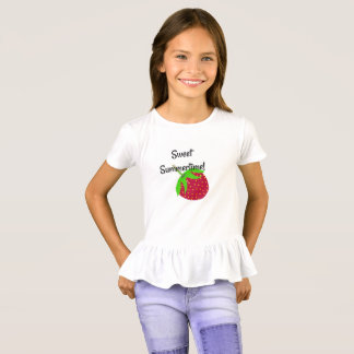 Sweet Summertime Strawberry Ruffle Top