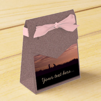 Sweet Sunset Silhouette People Favour Box