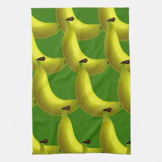 Sweet Tasty Yellow Banana Wallpaper Design Kitchen Towel