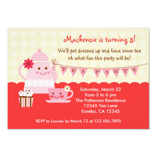 Sweet Tea Birthday Party Invitation