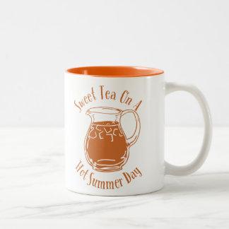 Sweet Tea On A Hot Summer Day Two-Tone Mug
