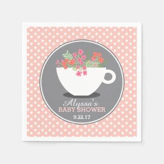 Sweet Teacup Baby Shower Disposable Serviette