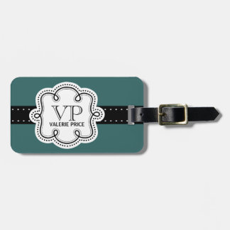 Sweet Teal Green Personalized Girly Girl Tag