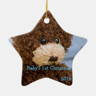 Sweet Teddy Bear Baby's First Christmas Ornament
