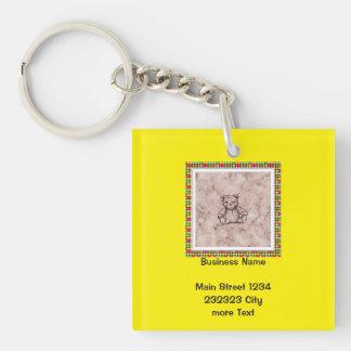 Sweet Teddy (L) Single-Sided Square Acrylic Key Ring