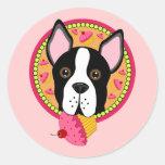 Sweet Terrier Round Sticker