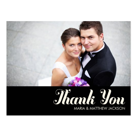 SWEET THANKS  | WEDDING POSTCARD