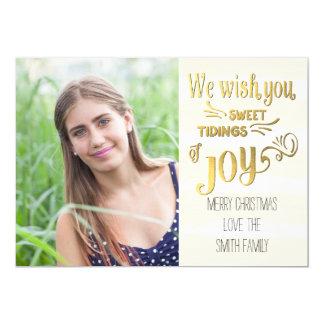 Sweet Tidings Of Joy Holiday Photo Card