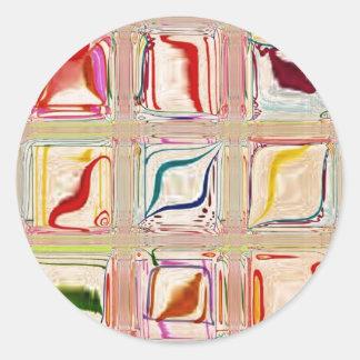 Sweet Tiles ~ customizable Classic Round Sticker