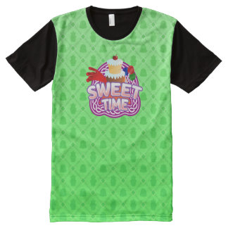 Sweet Time green All Printed T-Shirt All-Over Print T-Shirt