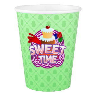 Sweet Time green Paper Cup