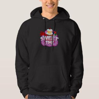 Sweet Time Men's dark hooded sweatshirt