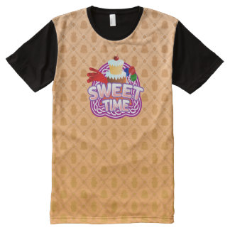 Sweet Time orange All Printed T-Shirt All-Over Print T-Shirt