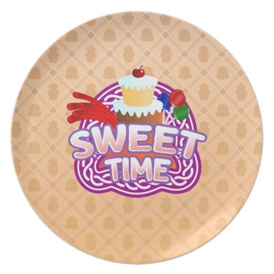 Sweet Time orange Melamine Plate