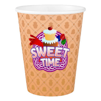 Sweet Time orange Paper Cup