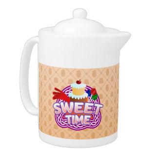 Sweet Time orange Teapot