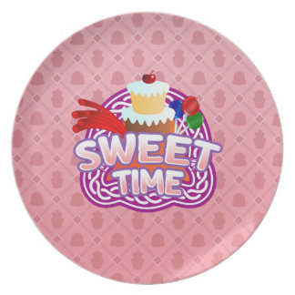 Sweet Time pink Melamine Plate