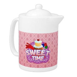 Sweet Time pink Teapot
