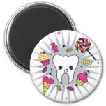 Sweet Tooth 6 Cm Round Magnet