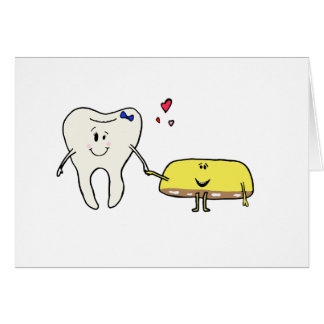 Sweet Tooth in Love Greeting Card