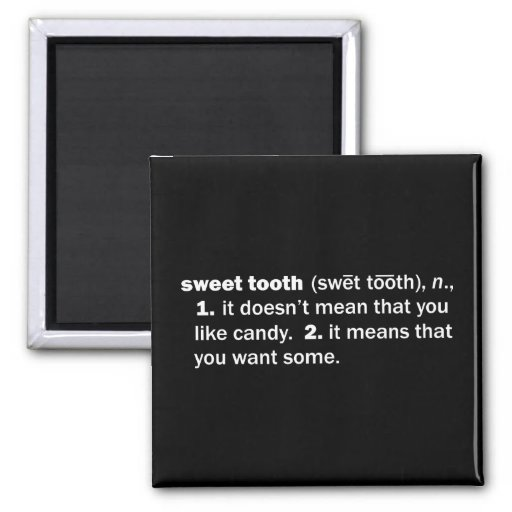 Sweet Tooth Square Magnet