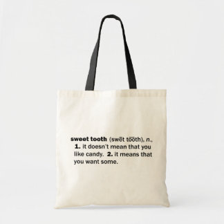Sweet Tooth Canvas Bags
