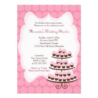 Sweet Treat Cupcake Bridal Shower 5x7 Invitation
