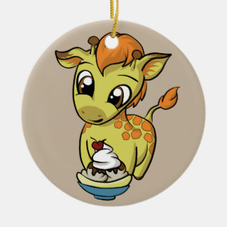 Sweet Treat! Giraffe Christmas Ornament
