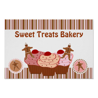 Sweet Treats Bakery Business Poster