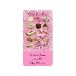 Sweet Treats Catering Paris french pastry Address Label