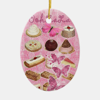 Sweet Treats Catering Paris french pastry Ceramic Oval Decoration