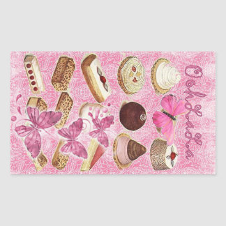 Sweet Treats Catering Paris french pastry Rectangular Sticker