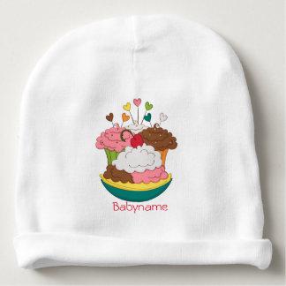 Sweet Treats Cupcakes & Ice Cream Personalized Baby Beanie