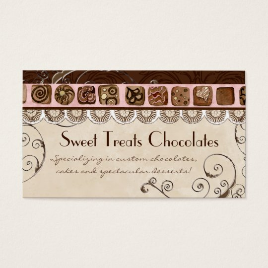 Sweet Treats Dessert Bakery Business Cards