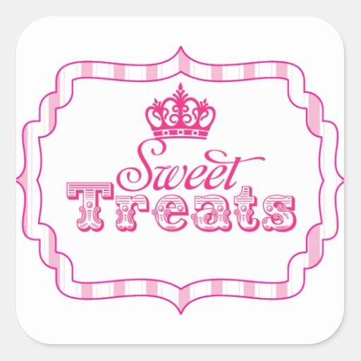Sweet Treats Princess Party Favor Birthday Sticker