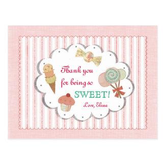 Sweet Treats Thank You Postcard