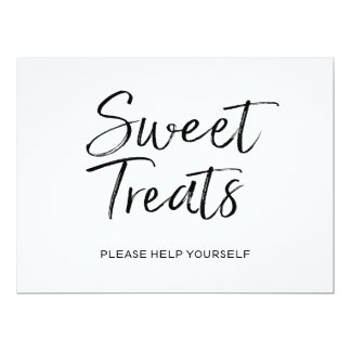 """Sweet Treats"" Wedding Sign | Stylish Lettered Card"