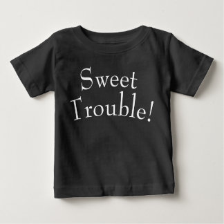 Sweet Trouble Kids T Shirt White on Black