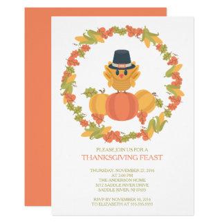 Sweet Turkey Day Thanksgiving Dinner Invitation