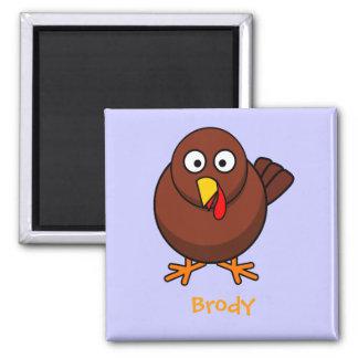 Sweet turkey square magnet