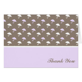 Sweet Umbrella Pattern Baby Shower Thank You Cards