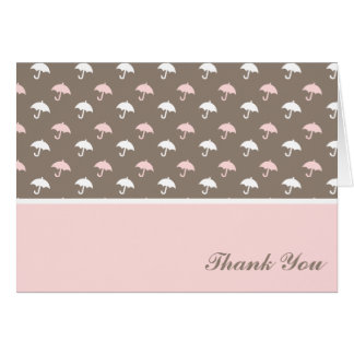 Sweet Umbrella Pattern Baby Shower Thank You Greeting Card