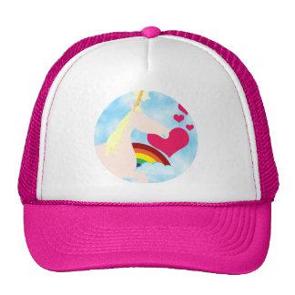 Sweet Unicorn and Rainbow Badge Trucker Hats