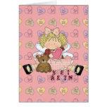sweet valentine blonde little girl cutie greeting card