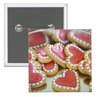 sweet valentine cookies in a tin biscuit box 15 cm square badge