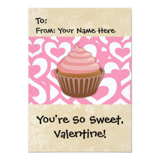 Sweet Valentine Cupcake Custom Announcements